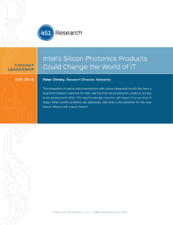 451 Research: Intel® Silicon Photonics Could Change IT