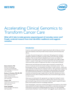 Intel Speeds Genomics to Transform Cancer Care