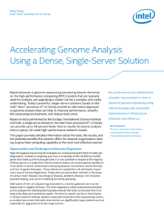 Accelerate Genome Analysis Using a Dense, Single-Server Solution
