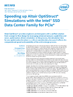Speeding Up Altair OptiStruct* Simulations White Paper