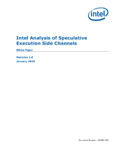 Intel Analysis of Speculative Execution Side Channels