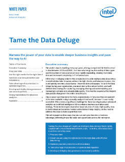 Taming the Analytics Data Deluge