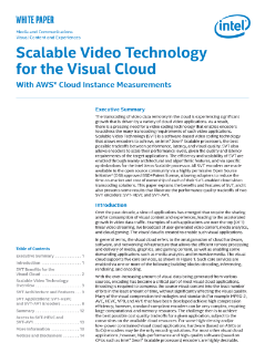 Scalable Video Technology for the Visual Cloud