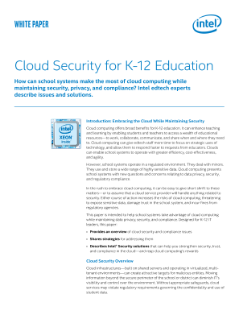 Cloud Security for K-12 Education