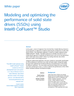 Intel® CoFluent™ Studio Models Optimize Intel® SSD Performance