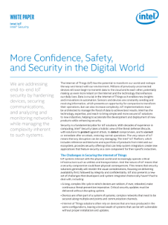 Intel® Security Builds IoT Safety in the Digital World
