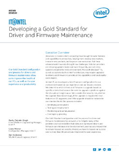 Developing a Gold Standard for Driver and Firmware Maintenance Paper