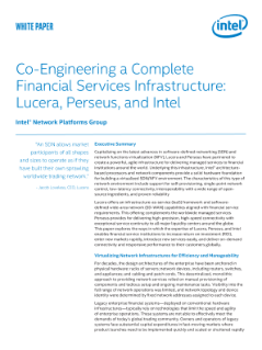 Engineering a Financial Services Infrastructure