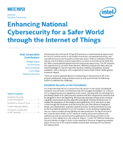 Enhancing National Cybersecurity with the Internet of Things (IoT)