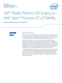 SAP Mobile Platform* on Intel® Xeon® processor E5 v2 family