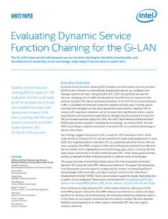 Dynamic Service Function Chaining for Gi-LAN
