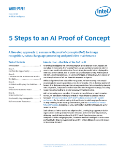 5 Steps to an AI Proof of Concept