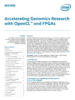 Genomics Research with OpenCL™ and FPGAs