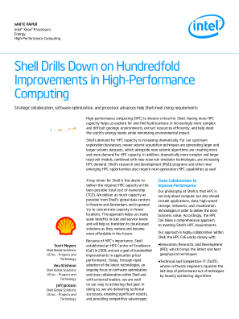 Shell Drills Down on HPC Improvements