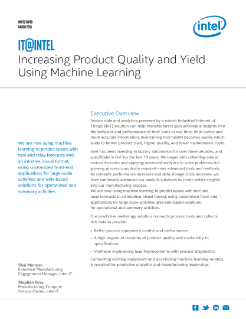 Machine Learning Increases Quality and Yield
