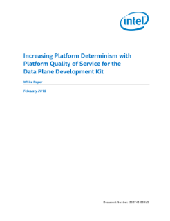 Platform Quality of Service for DPDK Improves Platform Determinism