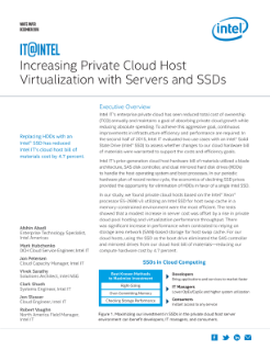 Increasing Private Cloud Host Virtualization with Servers and SSDs White Paper