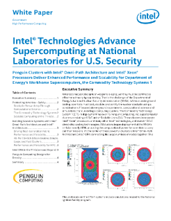 Intel® Technologies Advance Supercomputing for U.S. Security