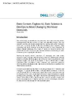 Data Centers Explore AI, Data Science & DevOps to Meet Changing Workload Demands