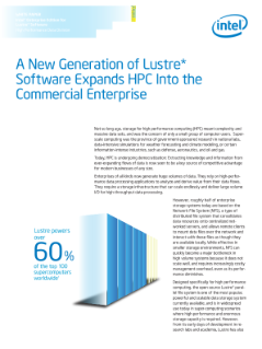 WHITE PAPER  Intel® Enterprise Edition for  Lustre* Software  High Performance Data Division