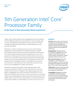 5th Gen Intel® Core™ Processor—at the Heart of Retail