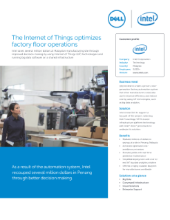 Benefits of the Internet of Things (IoT) for Factory Operations