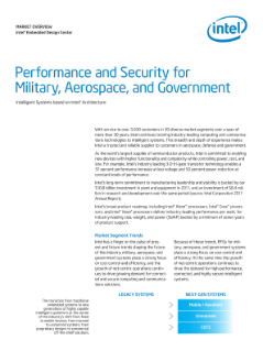 Intel® Architecture Provides Performance for Government Systems