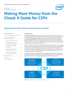 Making More Money from the Cloud: A Guide for CSPs