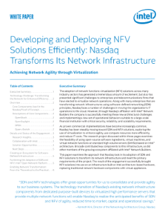 Nasdaq Transforms Its Network with NFV