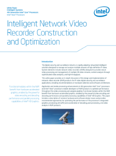Intelligent Network Video Recorder Construction and Optimization: White Paper