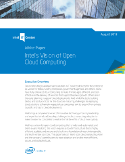 Intel's Vision of Open Cloud Computing PDF