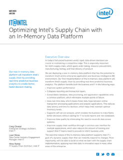 Optimizing Intel's Supply Chain with an In-Memory Data Platform