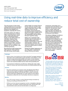 Using Real-Time Data to Improve Data Center Cooling Efficiency