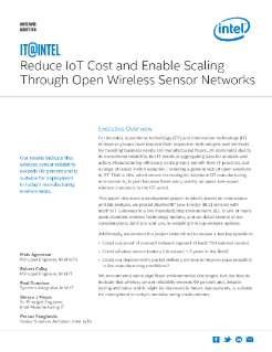 Reduce Cost with Wireless Sensor Networks