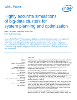 Cluster Simulations with Intel® CoFluent™ Technology for Big Data