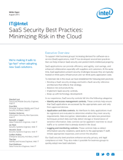 SAAS Security: Best Practices for Minimizing Risk in the Cloud