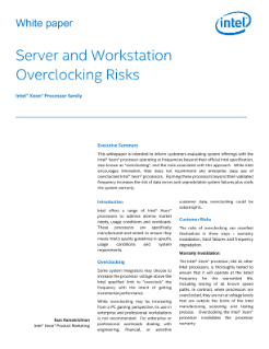The Risks of Overclocking an Intel® Xeon® Processor