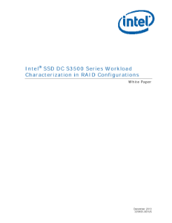 Intel® SSD DC S3500 Series RAID Workload Characterization