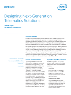 Designing Next-Generation Telematics Solutions