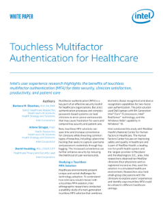 Touchless Multifactor Authentication (MFA) for Healthcare