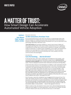 How Smart Design Can Build Trust in Automated Vehicles