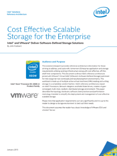 Intel and VMware Deliver Scalable Storage for the Enterprise