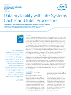 InterSystems Caché 2015.1 Soars on Intel® Xeon® Processors