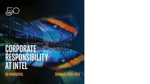 Intel Corporate Responsibility Report Builder