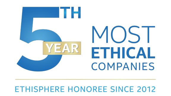 4th year Ethisphere Most Ethical Companies Ethisphere Honoree since 2012