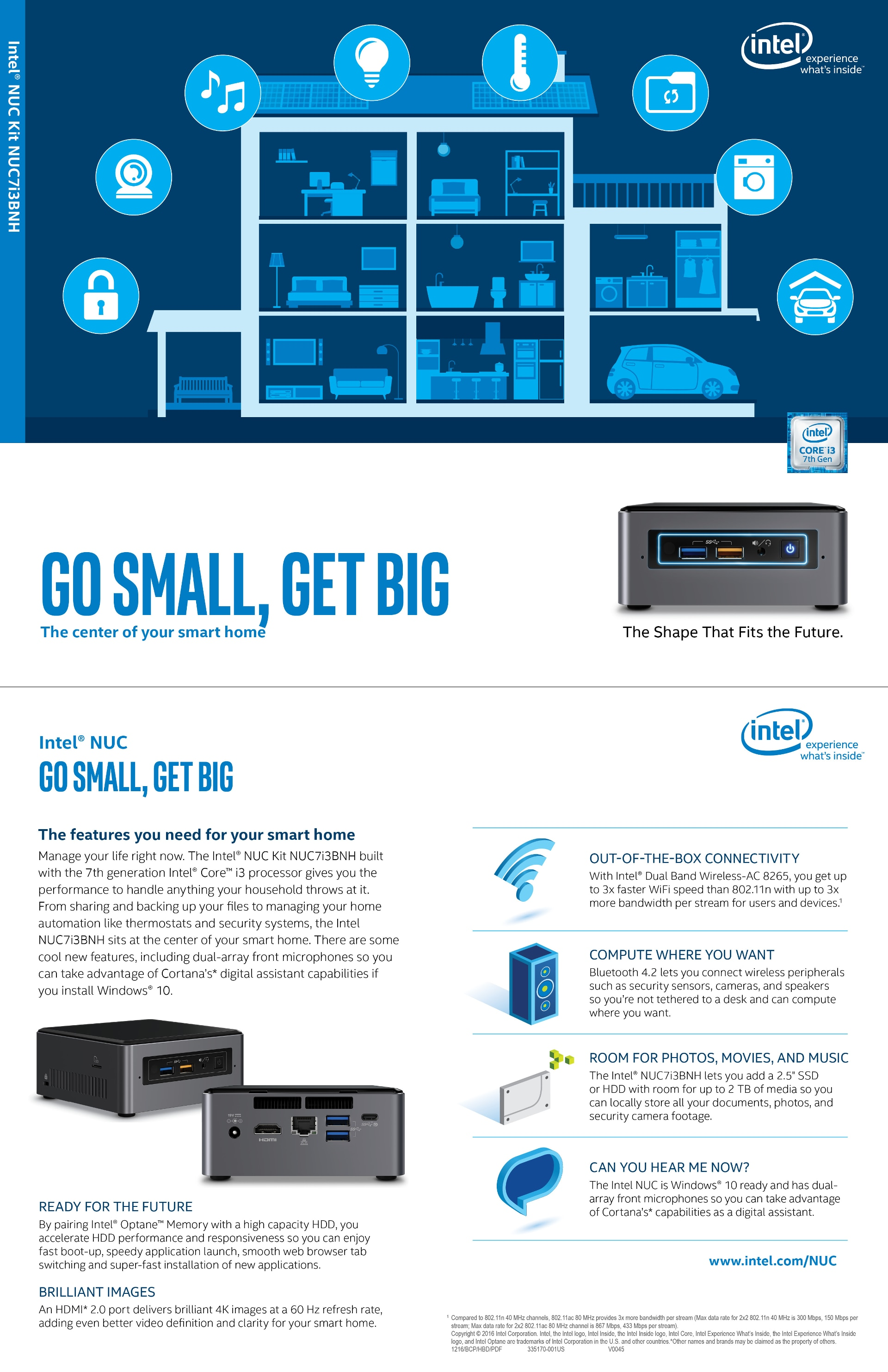 The Center Of Your Smart Home Intel Nuc Home Server Kit Nuc7i3bnh