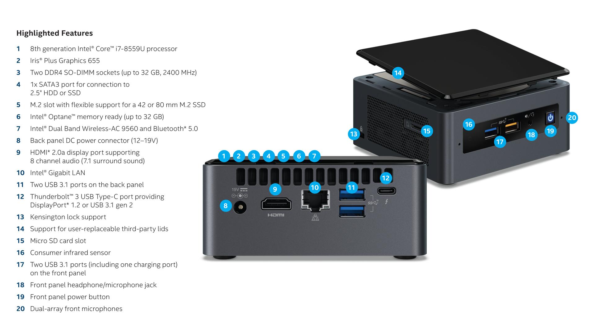 NUC8i7 features