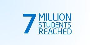 7 million students reached