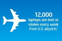 12,000 laptops are lost or stolen every week from U.S. airports