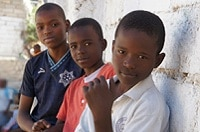 Three boys from Haitian school